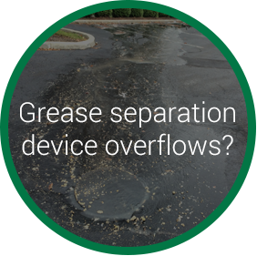 grease separation device overflows