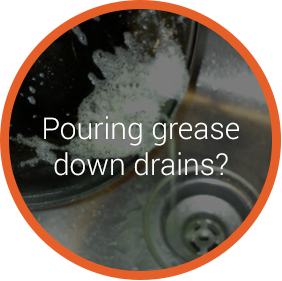 pouring grease down drains